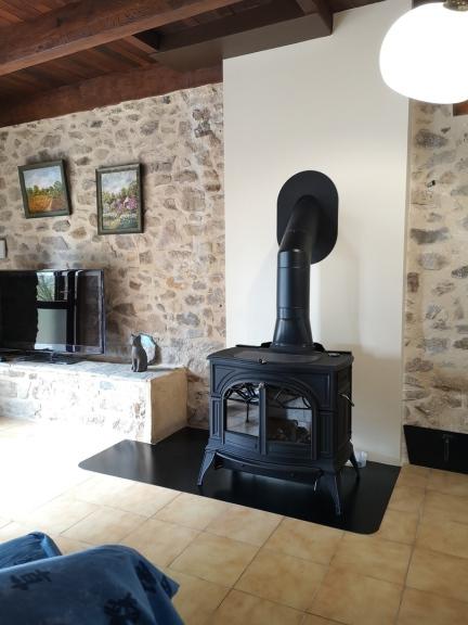 poêle bois fonte émaillé - bûches de 50 cm - Aveyron