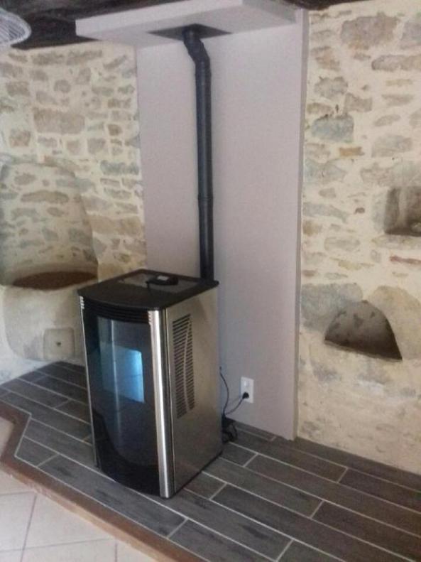 poêle granules HARMAN 11 kW - finitions inox - Aveyron